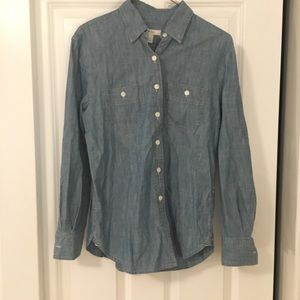 J. CREW jean button down flannel